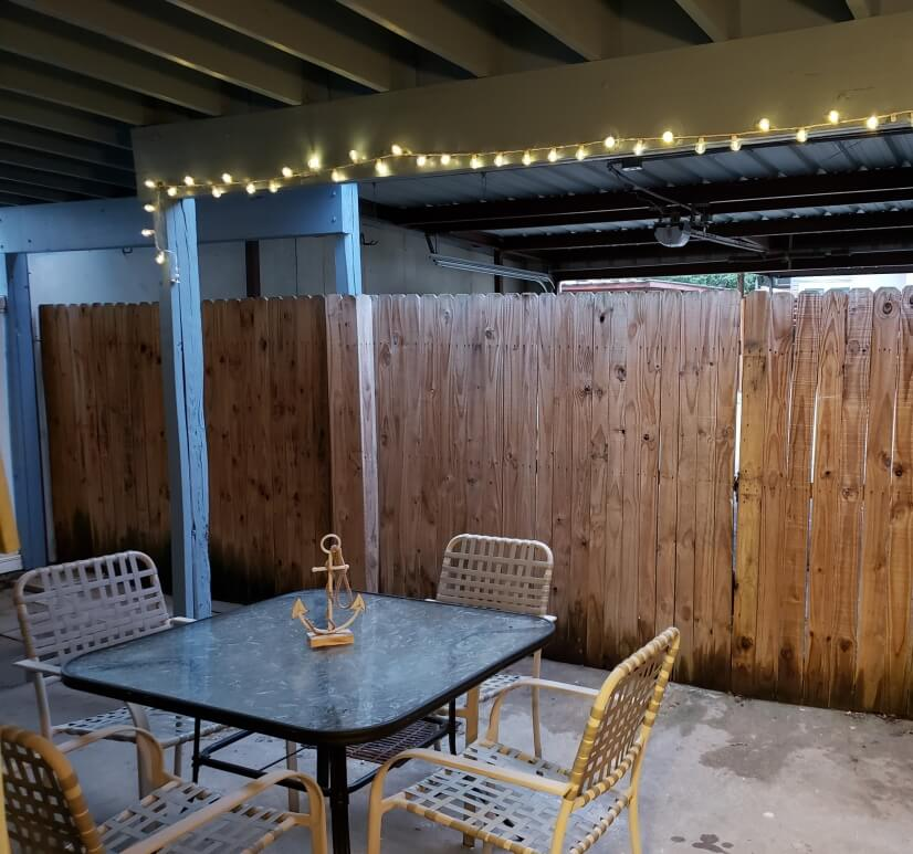 Patio in back for outdoor socializing