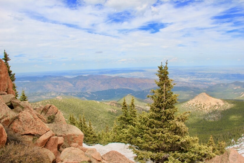 view from the Pikes Peak highway