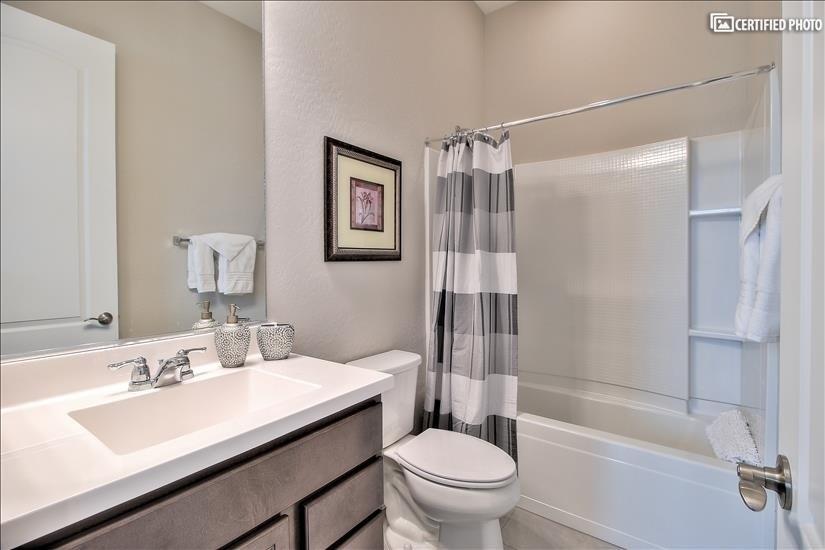 bathroom in guest suite.