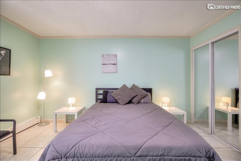 Main bedroom has lots of closet space
