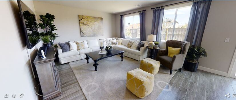 open concept spacious living room
