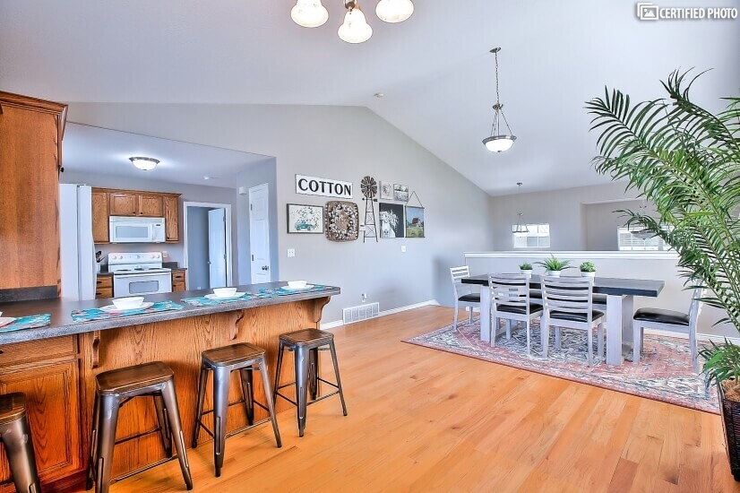 Coffee bar included in this large, inviting kitchen