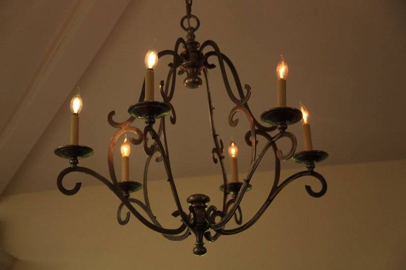 Chandelier Over Dining Table - Vaulted Ceilings Throughout