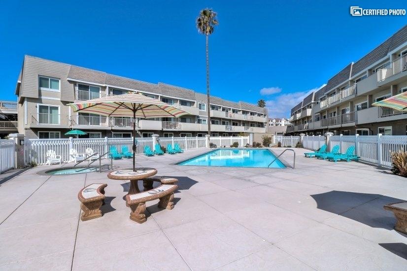 Upscale pool area