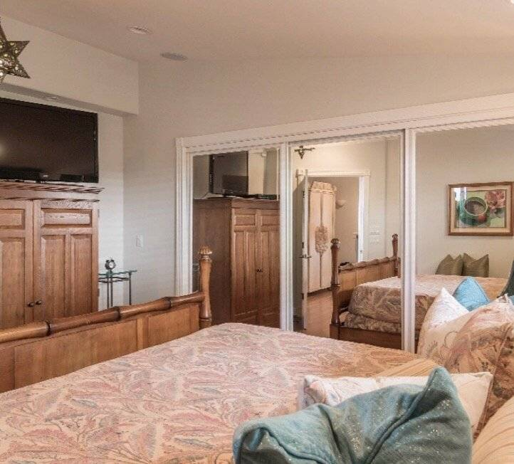 Bedroom with plenty closet space