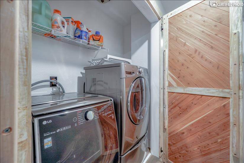 Laundry room with awesome washer and dryer
