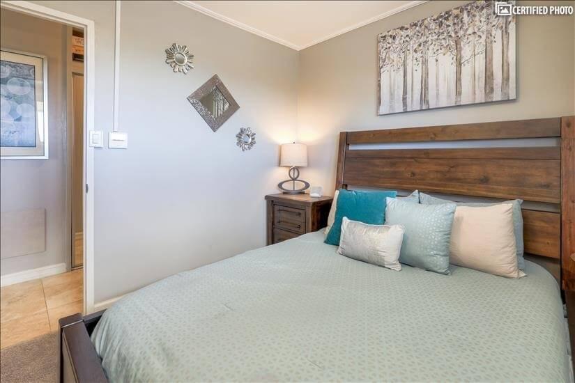 2nd bedroom tastefully furnished.