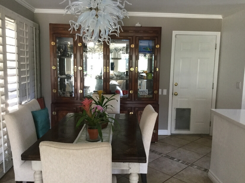 Another view of the open concept dining area.