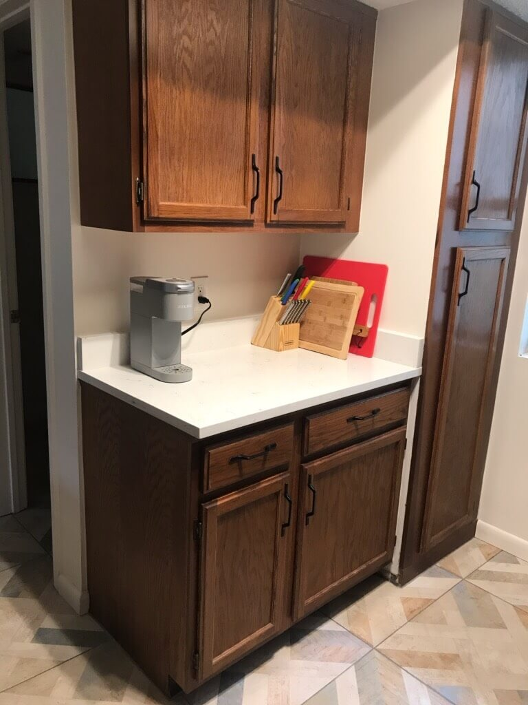 Plenty of storage in the kitchen