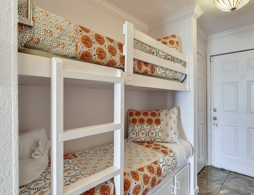 Bunk bed available in most units for kids or smaller adults.