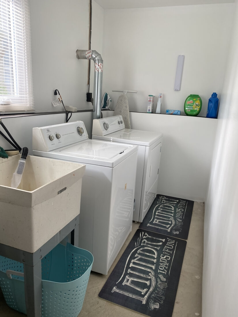 Fully equipped laundry room for your extended stay.