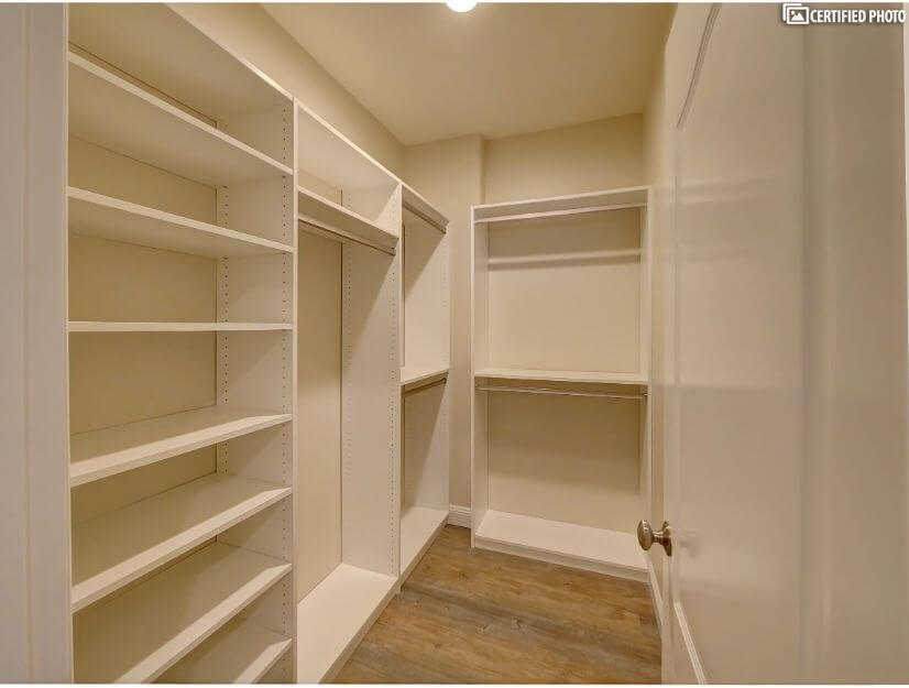Suite A - large walk-in closet with built in organizers.