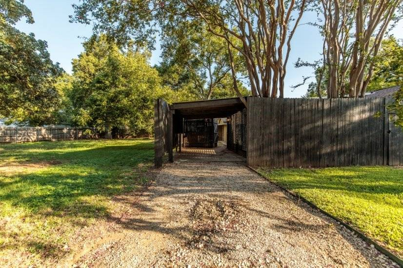 Private driveway and carport