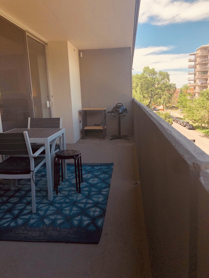 Large balcony to grill, dine, and relax.