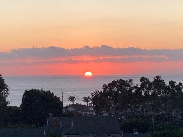 Sunset taken from deck