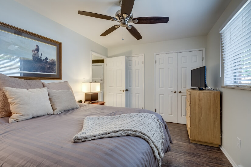 Master bedroom-view to closets