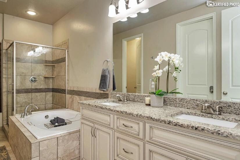 Main Floor Master Bathroom with Shower & Soaking Tub