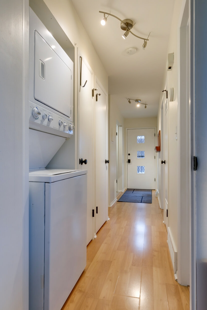hallway and laundry
