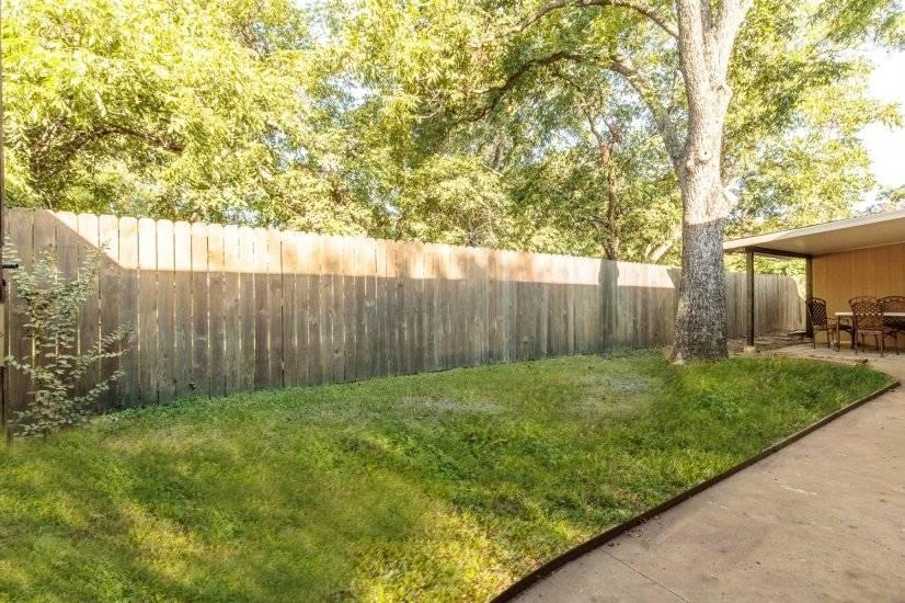 Private backyard.