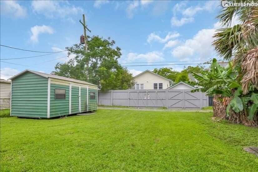 Large backyard & green space.