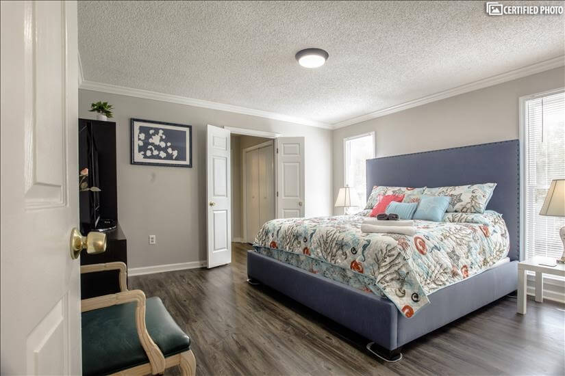 Master on Main floor with closets and ensuite