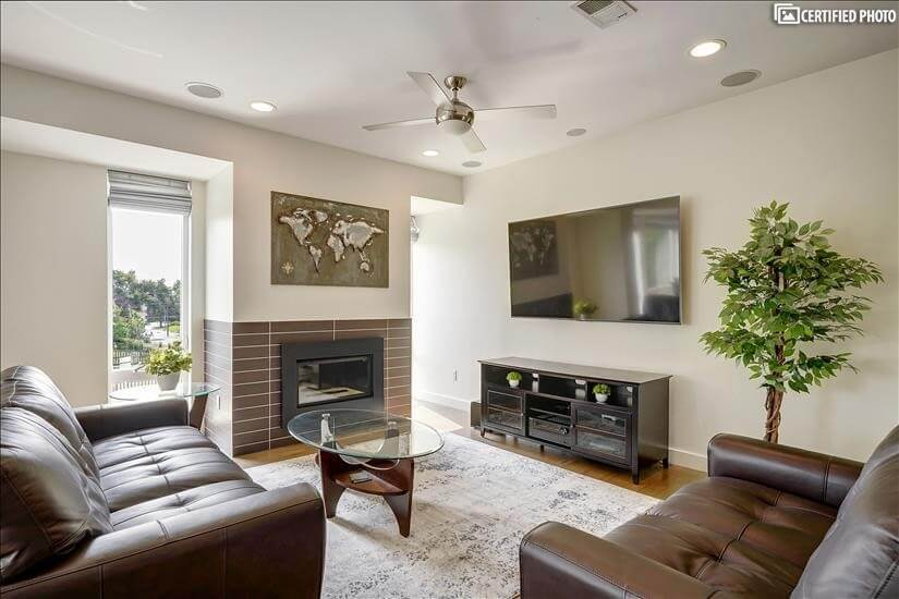 Living Room with 72' TV (cable included)