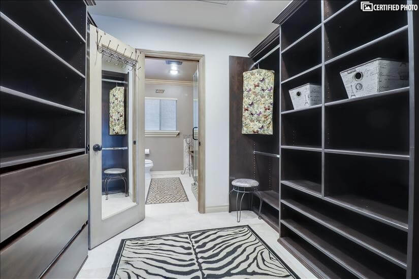 Spacious Walk in closet from Master bedroom