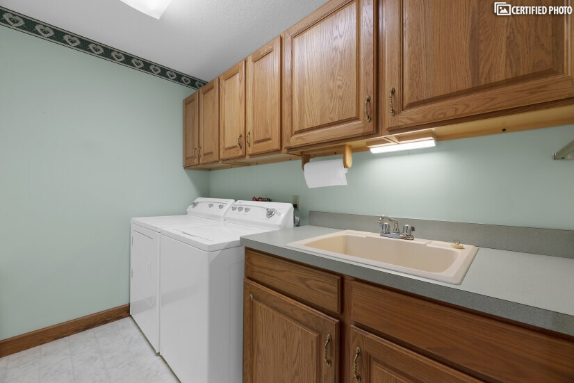 Laundry Room with Stationary Tub