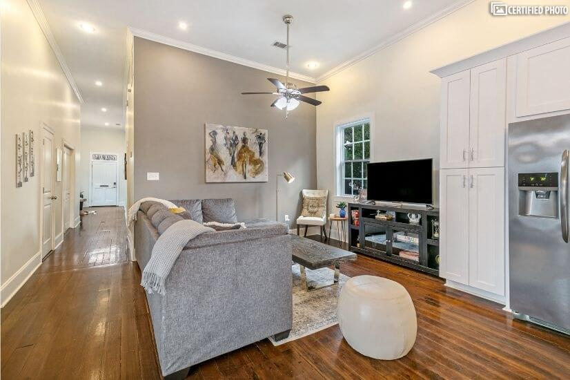 Completed renovated 1920 classic uptown shotgun house