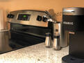 full kitchen with coffee maker
