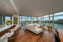 Open concept floor plan takes in the views...