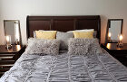Queen sleigh bed in front bedroom- All new fu