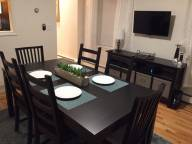 Separate dining area with storage and cable T...