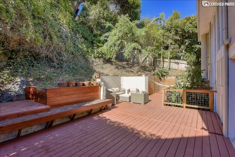 Outdoor space - back deck with sitting area