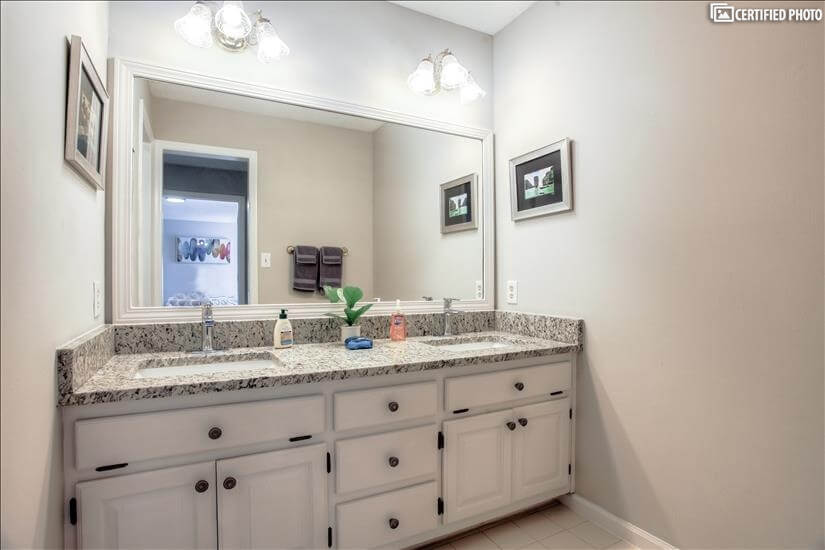 Master on Main Double Vanity Sink.