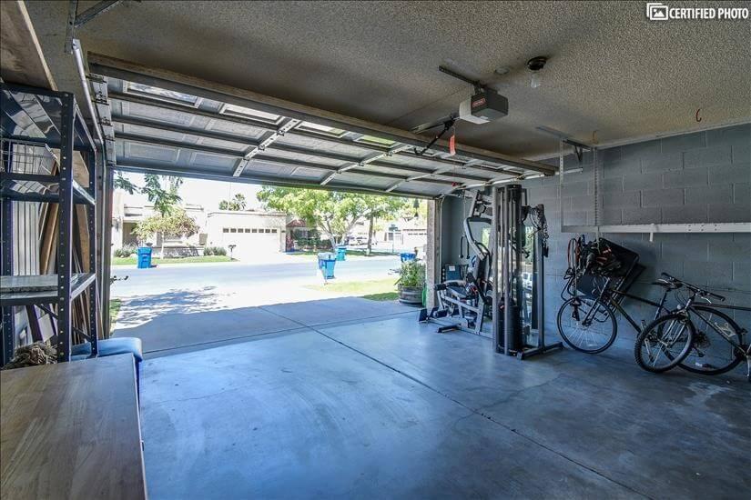 Safe rack, bikes and gym