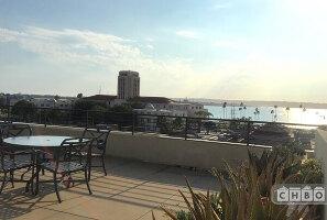 Rooftop deck facing SD Harbor