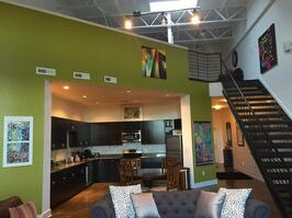 Spacious two story loft with 22 foot ceiling