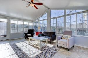 Sun room with two recliners