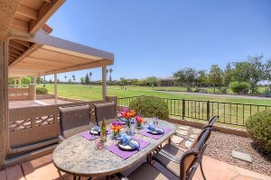 2 BR 2 bath home with a view of Painted Mountain Golf Course