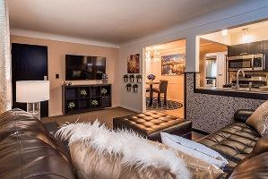 Cincinnati extended stay apartment Living room