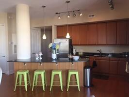 Large open-plan kitchen
