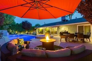 Resort like backyard
