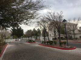 Secured gated community entrance
