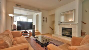 Formal Living Room with a fireplace