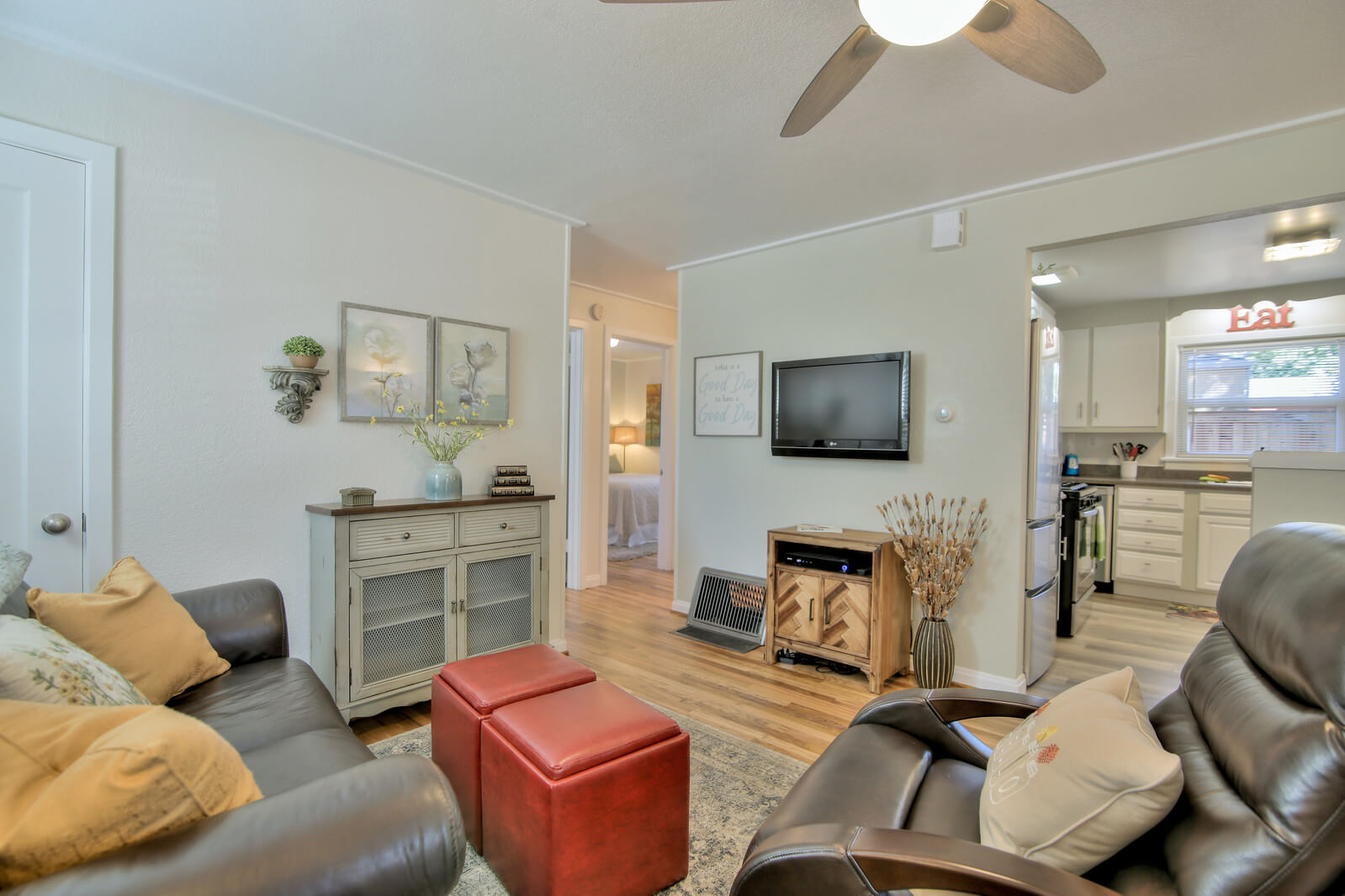 Open Concept Living Room & Dining Area