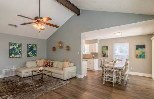 Large living room and dining
