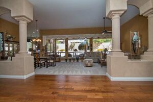 Great view of Formal Living Room & Dinning Ro
