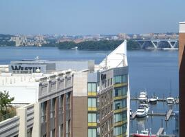 Water view of Nat'l Harbor MD from the balcon