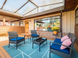 A mid-century modern with great indoor and outdoor living